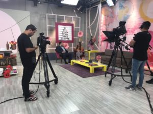 bastidores do programa de TV